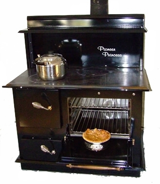 Pioneer Maid, Pioneer Princess, Bakers Choice, Wood Cook stove